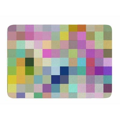 Colorful Pixels by Dawid Roc Bath Mat