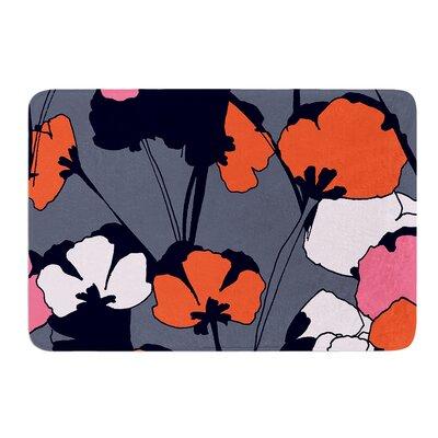 "Pop Flowers by Gabriela Fuente Bath Mat Size: 17""W x 24""L"