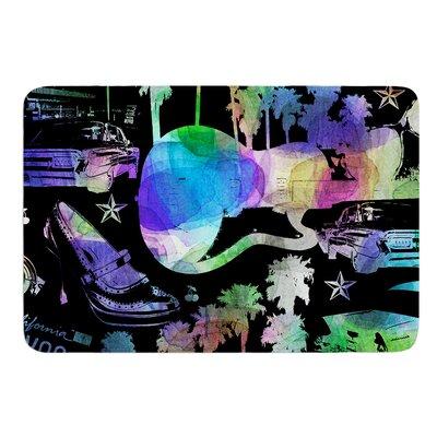 "California Dream by Gabriela Fuente Bath Mat Size: 17""W x 24""L"