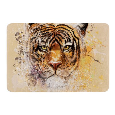 """My Tiger by Geordanna Cordero-Fields Bath Mat Size: 17""""W x 24""""L"""