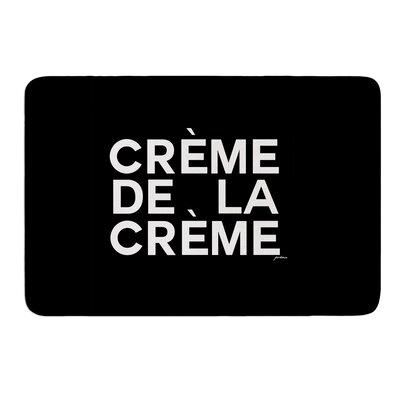 """Creme De La Creme by Geordanna Cordero-Fields Bath Mat Size: 24"""" W x 36"""" L"""