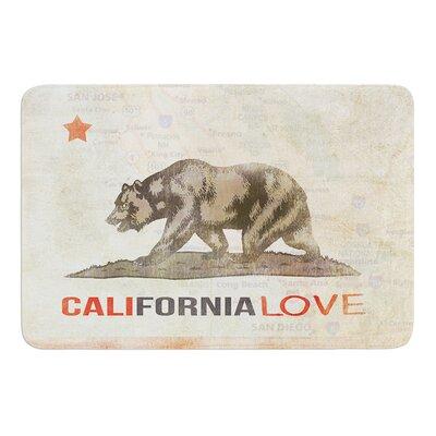 """Cali Love by iRuz33 Bath Mat Size: 17""""w x 24""""L"""