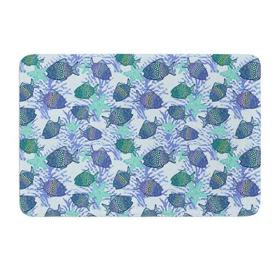 """My Colorful Fishes by Julia Grifol Bath Mat Size: 17"""" W x 24"""" L"""