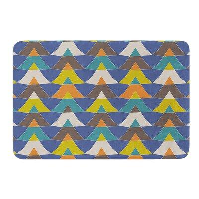 "Colorful Triangles by Julia Grifol Bath Mat Size: 17"" W x 24"" L"