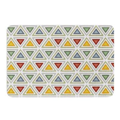 """Ikat Triangles by Julia Grifol Bath Mat Size: 17"""" W x 24"""" L"""