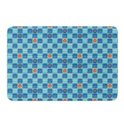"""Vintage Checkerboard by Jane Smith Bath Mat Size: 17"""" W x 24"""" L"""