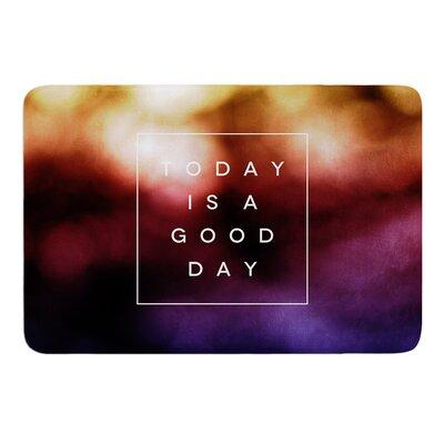 """Good Day by Galaxy Eyes Bath Mat Size: 17"""" W x 24"""" L"""
