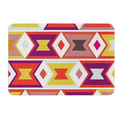 """Aztec Weave by Pellerina Design Bath Mat Size: 17""""W x 24""""L"""