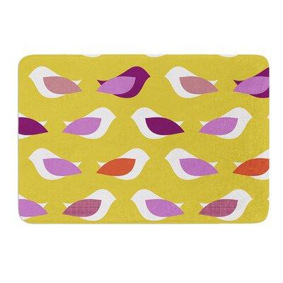 """Golden Orchid Birds by Pellerina Design Bath Mat Size: 17""""W x 24""""L"""