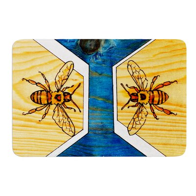 """Bees by Brittany Guarino Bath Mat Size: 24"""" W x 36"""" L"""