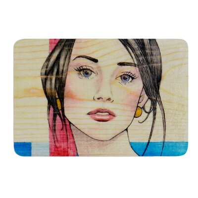 """Face by Brittany Guarino Bath Mat Size: 17""""W x 24""""L"""