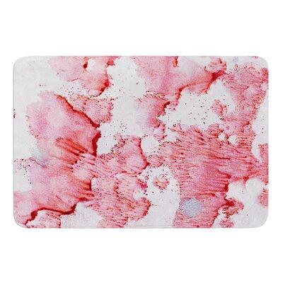 "Soft Pink Splashes by Iris Lehnhardt Bath Mat Size: 17""w x 24""L"
