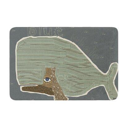 "Whale by Bri Buckley Bath Mat Size: 24"" W x 36"" L"