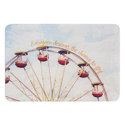 """The Chance To Fly by Beth Engel Bath Mat Size: 17""""W x 24""""L"""