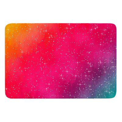 "Colorful Constellation by Fotios Pavlopoulos Bath Mat Size: 17""W x 24""L"
