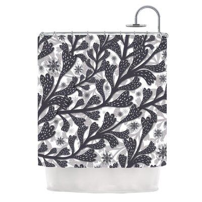 Snow Houses by Akwaflorell Abstract Shower Curtain