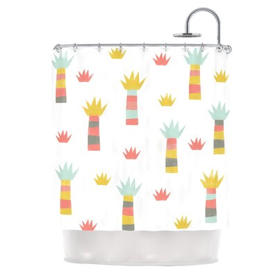Tropical by Alik Arzoumanian Pastel Shower Curtain