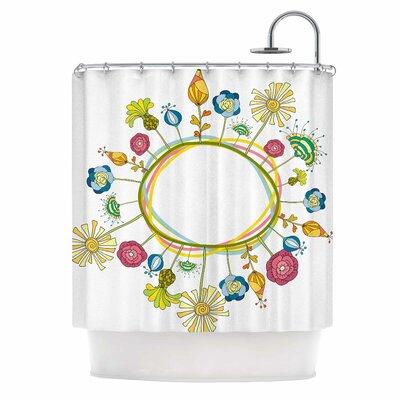 Flo by Alisa Drukman Floral Shower Curtain