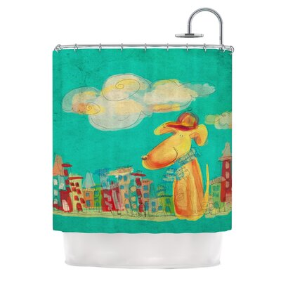 Perrito by Carina Povarchik Dog Shower Curtain