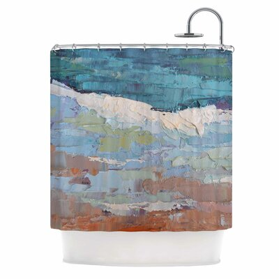 On the Beach by Carol Schiff Shower Curtain