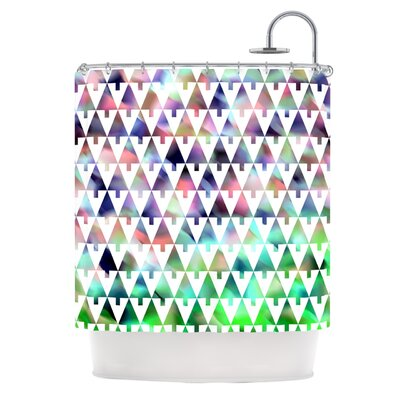 X-Mas Party by Gabriela Fuente Pastel Geometric Shower Curtain