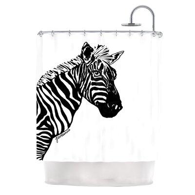 My Zebra Head by Geordanna Cordero-Fields Shower Curtain