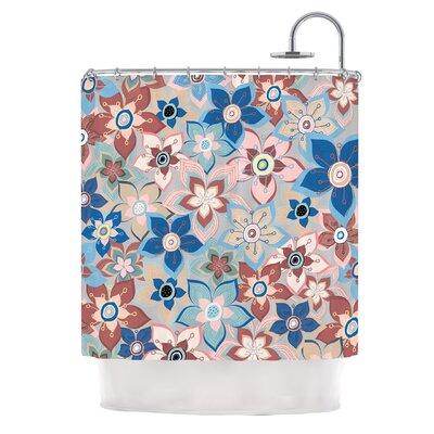 Marsala Floral Mix by Jolene Heckman Shower Curtain