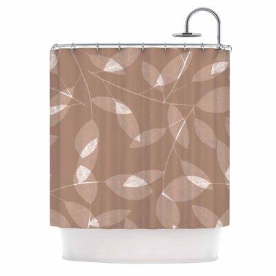 Leaf by Alison Coxon Shower Curtain Color: Brown