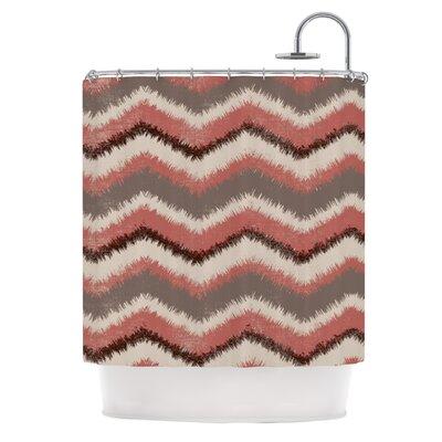 Fuzzy Chevron by Heidi Jennings Shower Curtain