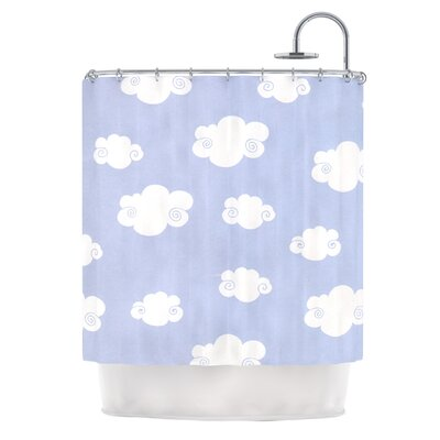 Happy Clouds by Heidi Jennings Shower Curtain
