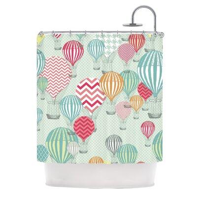 Hot Air Baloons by Heidi Jennings Shower Curtain