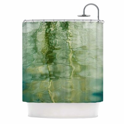 Fluidity Series 3 by Malia Shields Abstract Shower Curtain