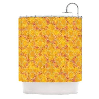 Jaipur Saffron by Patternmuse Shower Curtain