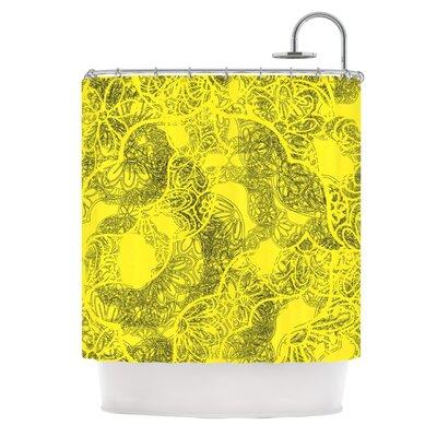 Mandala Lemon by Patternmuse Shower Curtain