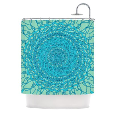 Mandala Spin by Patternmuse Shower Curtain