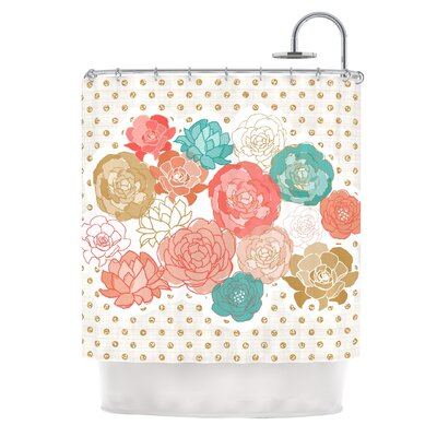 Spring Florals by Pellerina Design Blush Peony Shower Curtain