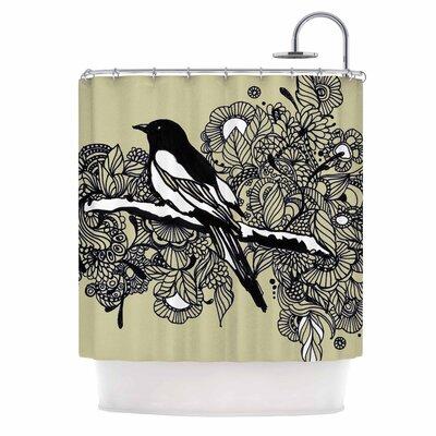 Magpie by Sonal Nathwani Bird Shower Curtain