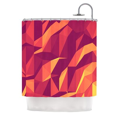 Abstract Mountains by Strawberringo Abstract Shower Curtain