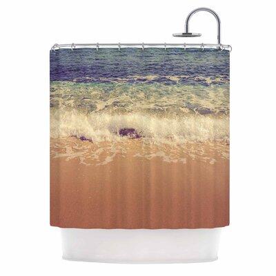 Crashing Waves by Violet Hudson Beach Coastal Shower Curtain