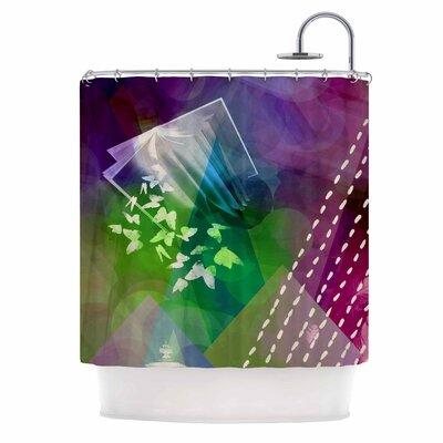 Escape by AlyZen Moonshadow Shower Curtain