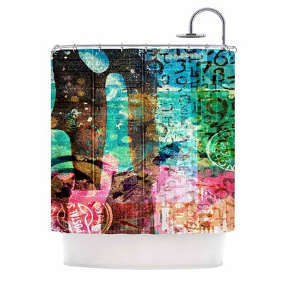 Abstract by AlyZen Moonshadow Shower Curtain