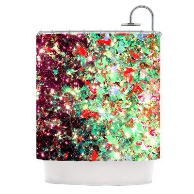 Mistletoe Nebula by Ebi Emporium Shower Curtain