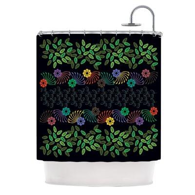 Dark Jungle by Famenxt Shower Curtain