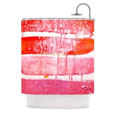 Coral Paint Wash by Iris Lehnhardt Shower Curtain