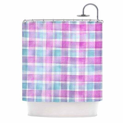 Watercolour Checked Tartan Sin by Michelle Drew Plaid Shower Curtain