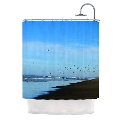 Beach Hair by Robin Dickinson Coastal Shower Curtain