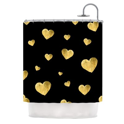 Floating Hearts by Robin Dickinson Shower Curtain