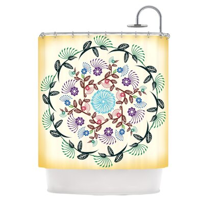 Nature Mandala by Famenxt Shower Curtain