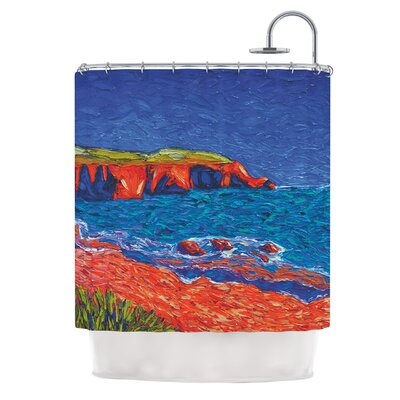 Sea Shore by Jeff Ferst Coastal Painting Shower Curtain