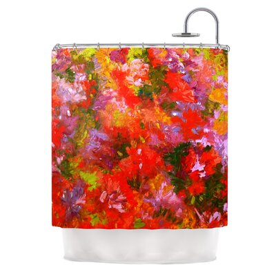 Summer Garden by Jeff Ferst Floral Painting Shower Curtain